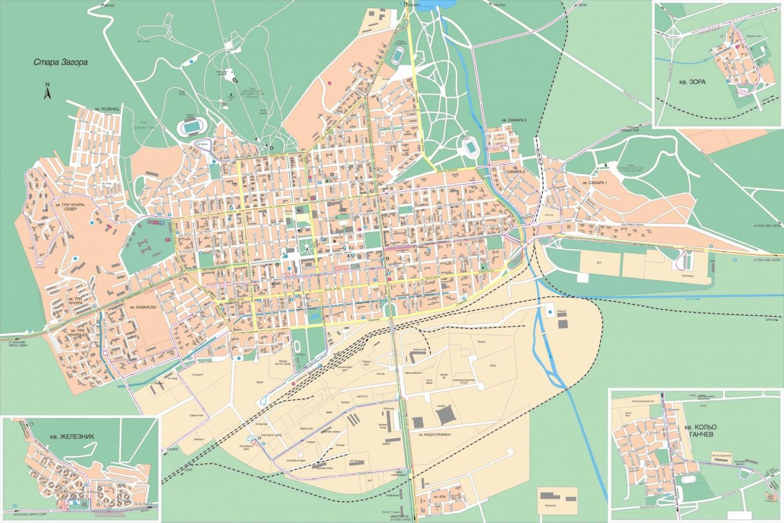 Karta Obshina Stara Zagora